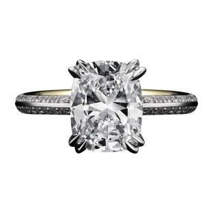 Vows by Alexandra Mor Cushion-Cut Diamond Engagement Ring