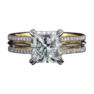 Vows by Alexandra Mor Radiant Cut Diamond Ring