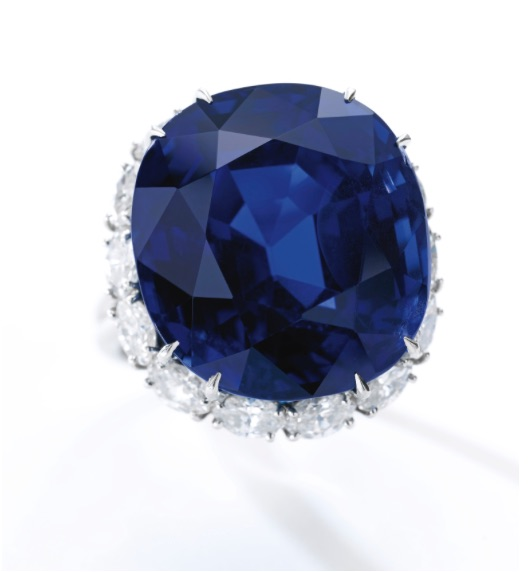 Very fine sapphire and diamond ring