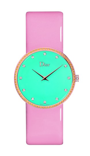 LA D DE DIOR GRANVILLE TURQUOISE AND YELLOW SAPPHIRES - 38MM