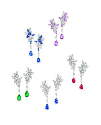 Secret Cluster by Harry Winston Earrings