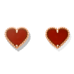 Sweet Alhambra Heart Stud Earrings