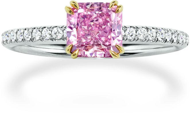 Harry Winston Pink Sapphire and Diamond ring
