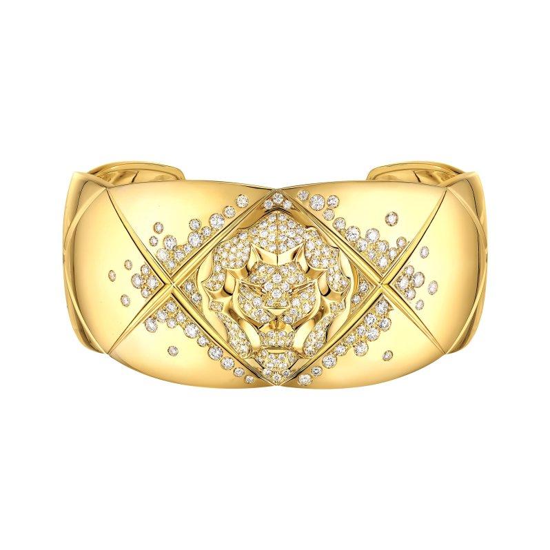manchette-coco-schiacciamento-leone-OJ-diamants