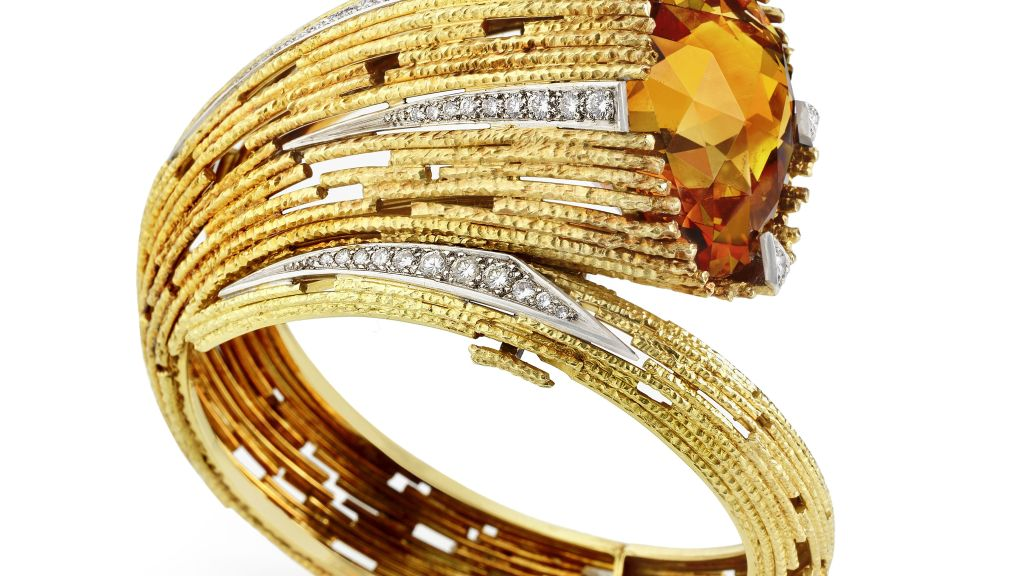 Isang citrine at brilyante-set na bangle ni Andrew Grima