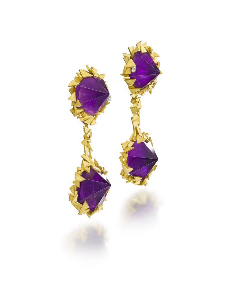 Amethyst earrings by Andrew Grima