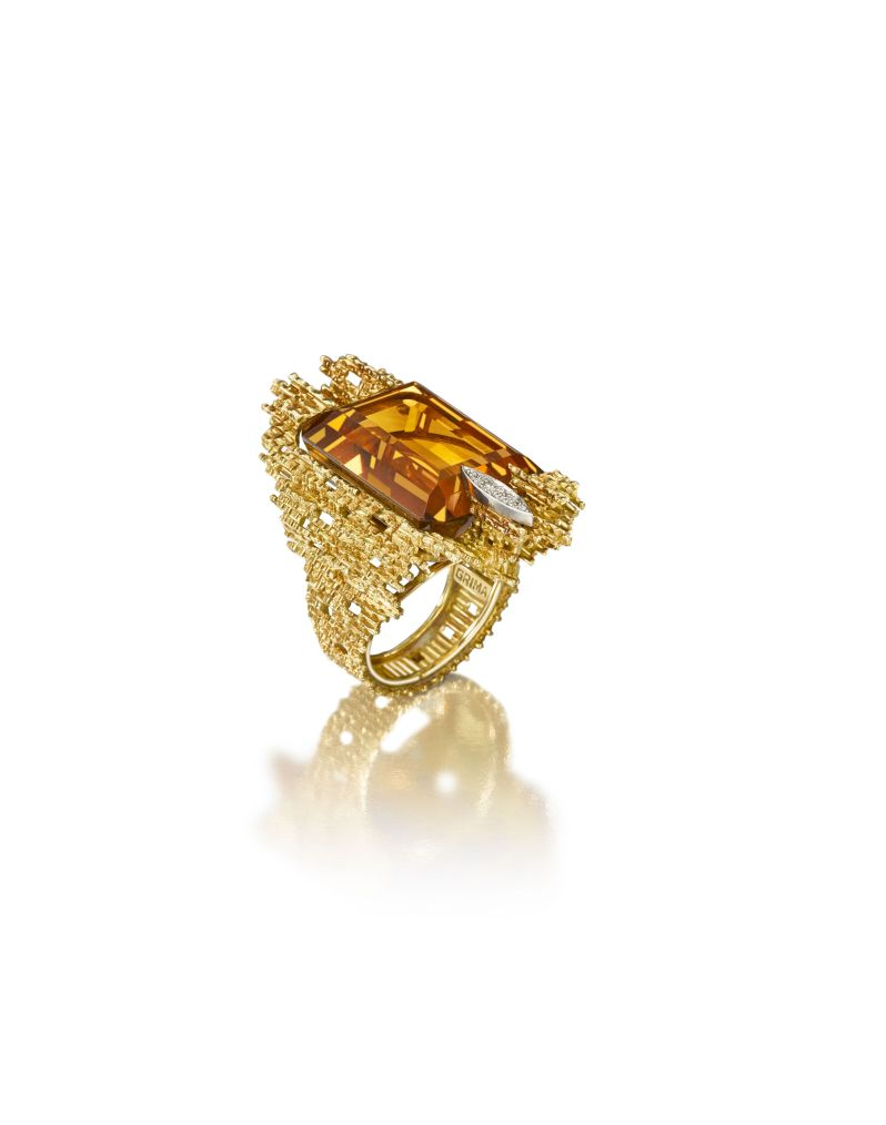 Citrine ring by Andrew Grima