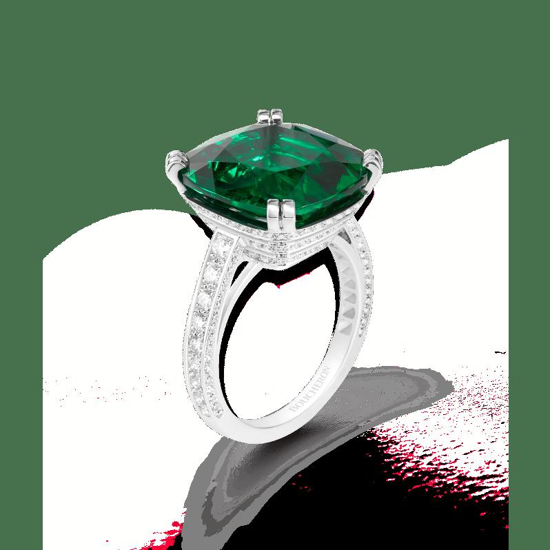 Boucheron Emeraude Imperiale ring