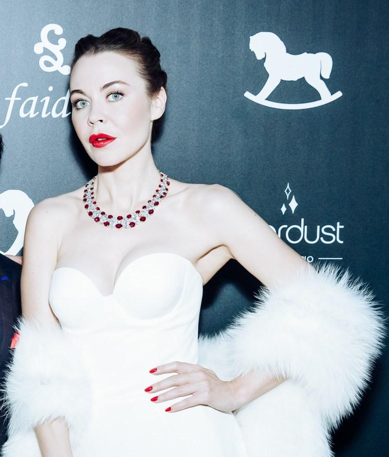 Ulyana Sergeenko wearing Faidee Imperial Necklace