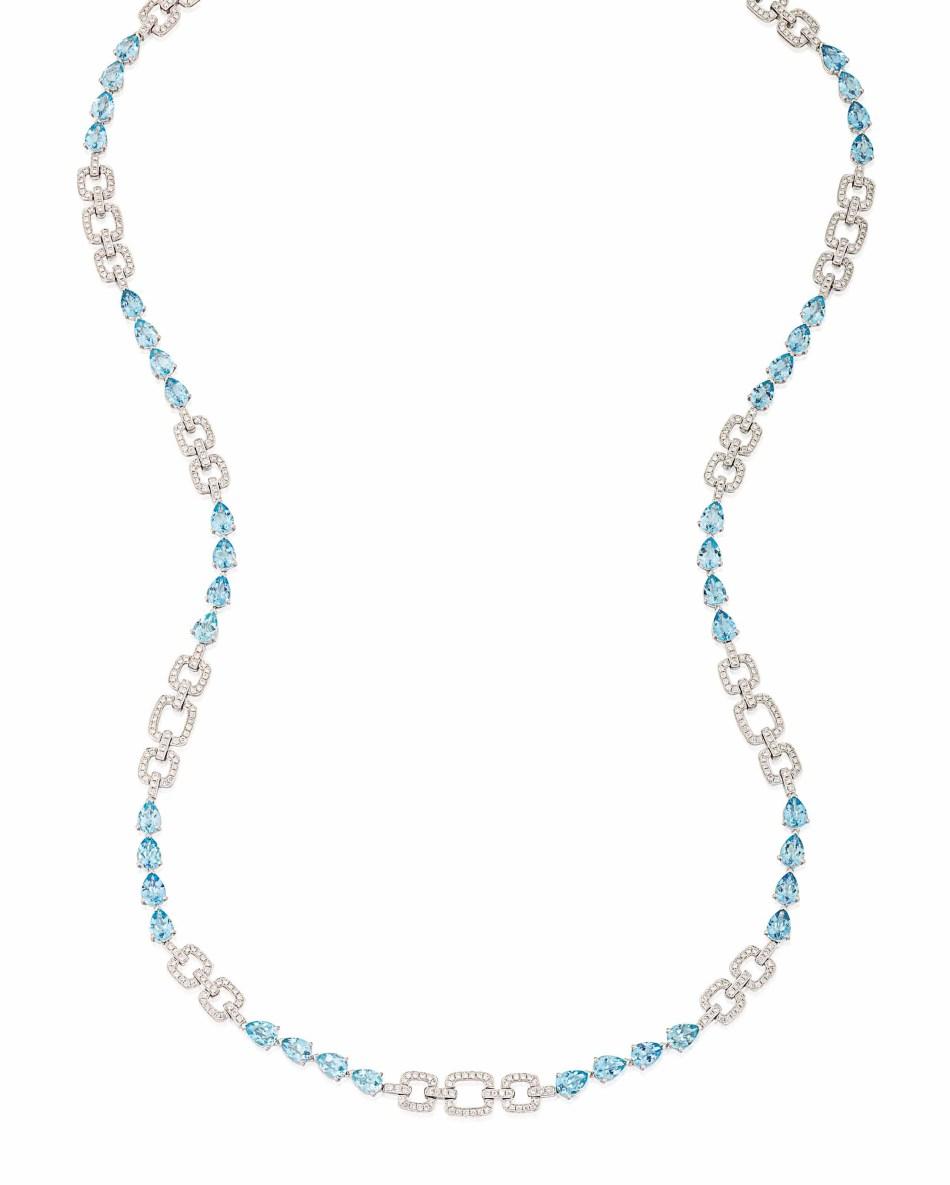 Lot 78 (aquamarine_and_diamond_necklace)