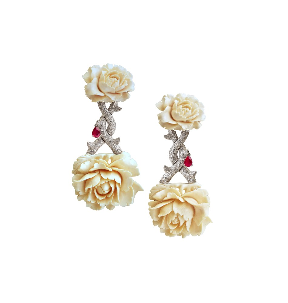 Fabio Salini Rose Earrings