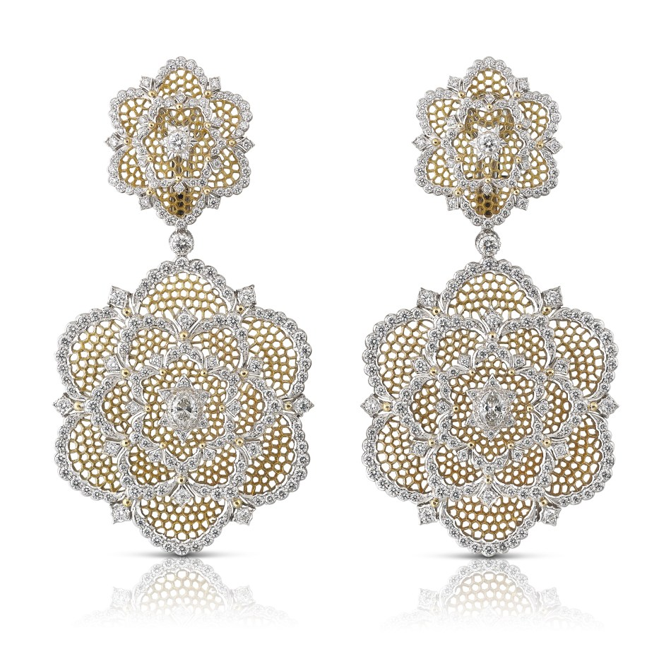 Buccellati Camelia earrings