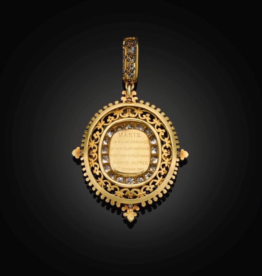 Empress Maria Alexandrovna diamond portrait pendant