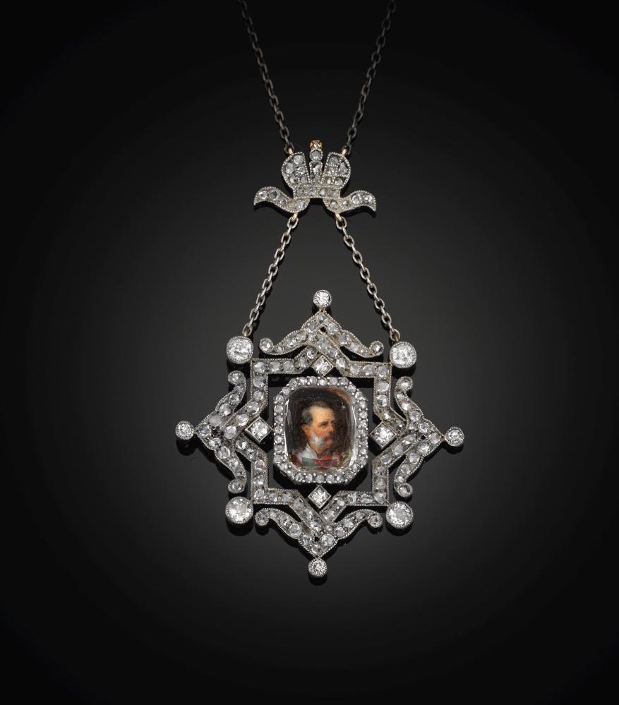 Grand Duke Vladimir Alexandrovich portrait diamond pendant