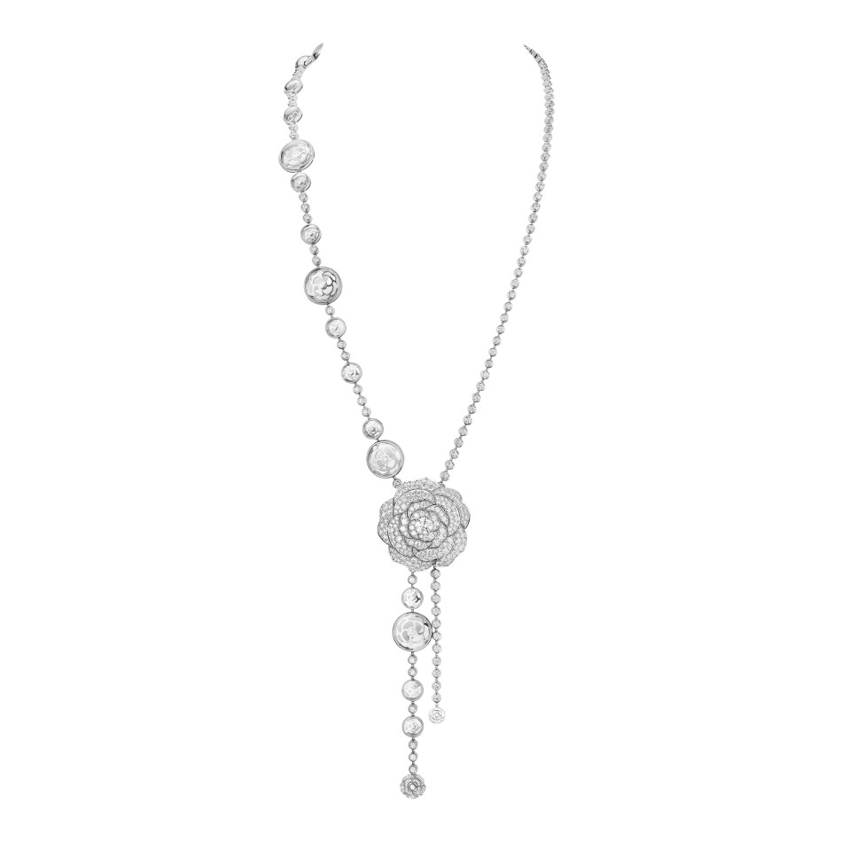 Chanel 1.5 - 1 Camélia, 5 Allures High Jewellery Collection. Cristal Illusion Necklace