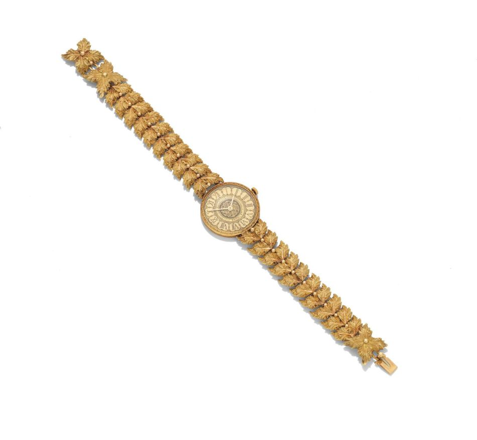 A gold dress watch, by Buccellati