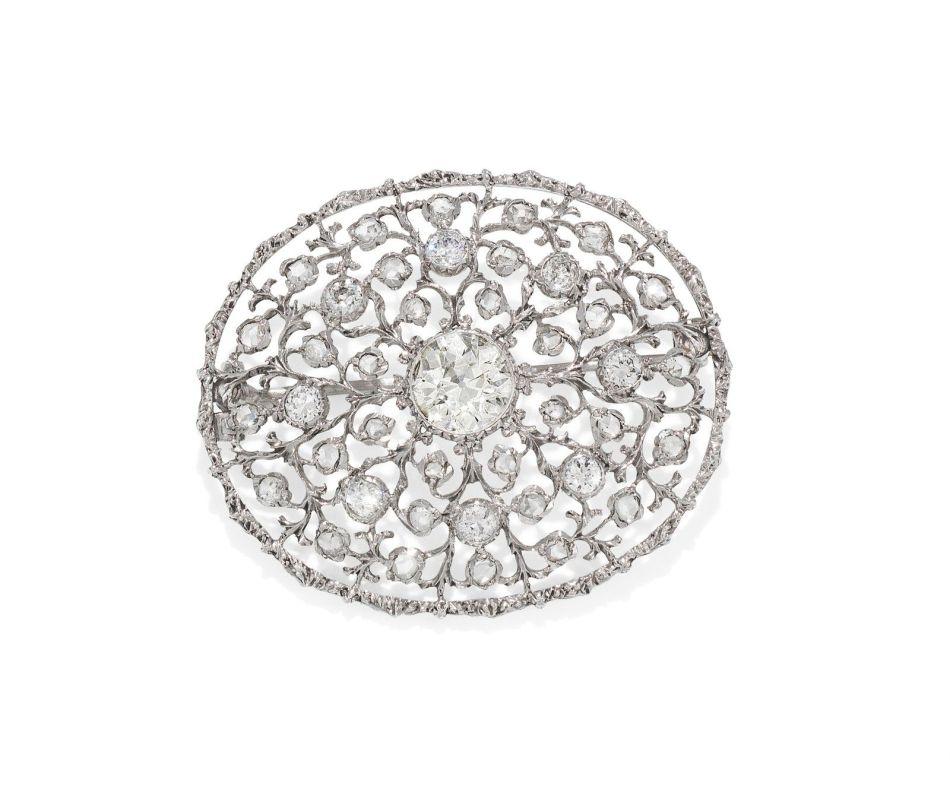 ブッカラティのダイヤモンドプラークブローチペンダント