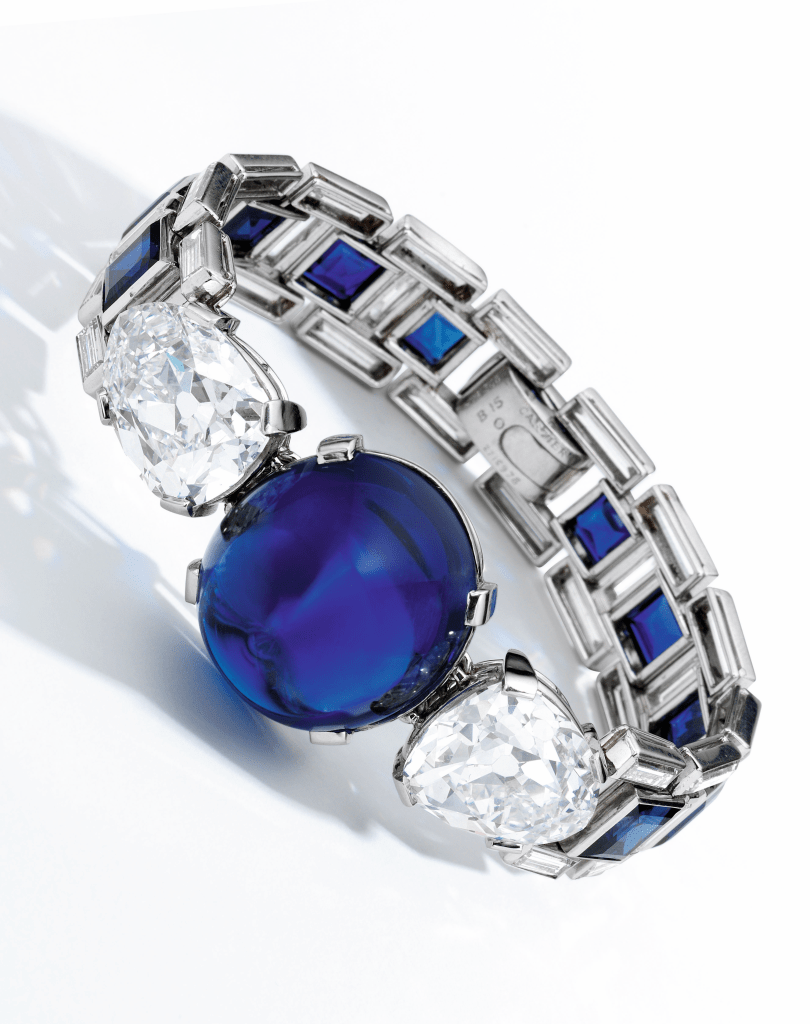 Sapphire and diamond bracelet Cartier 1927 Sotheby's