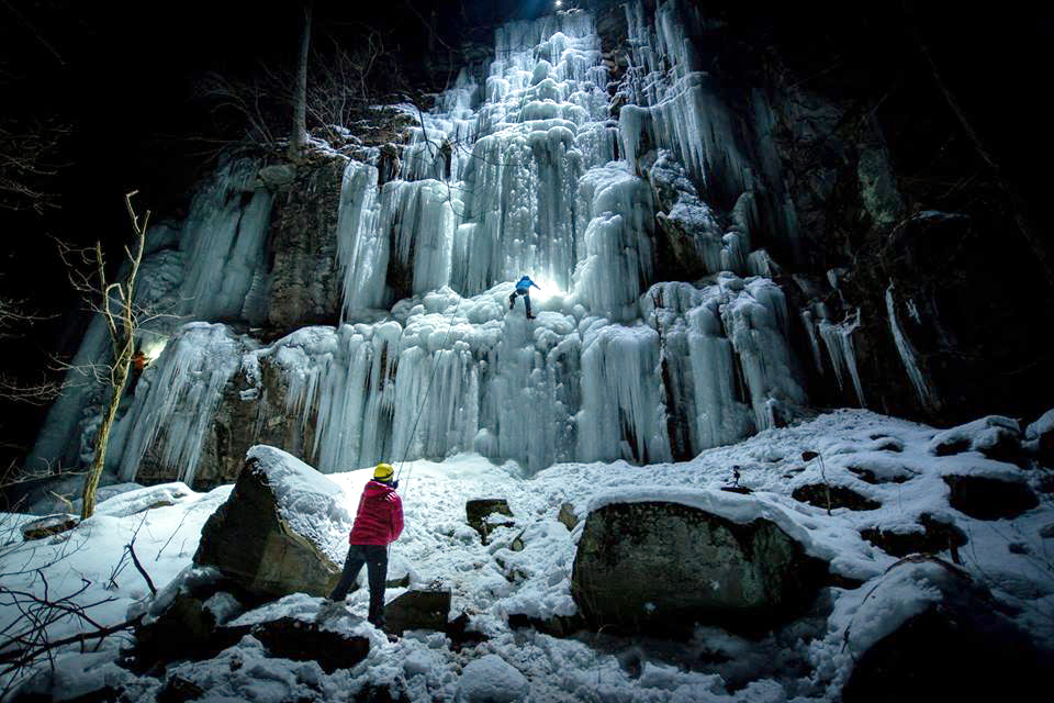 Ice Climbing in West Virginia