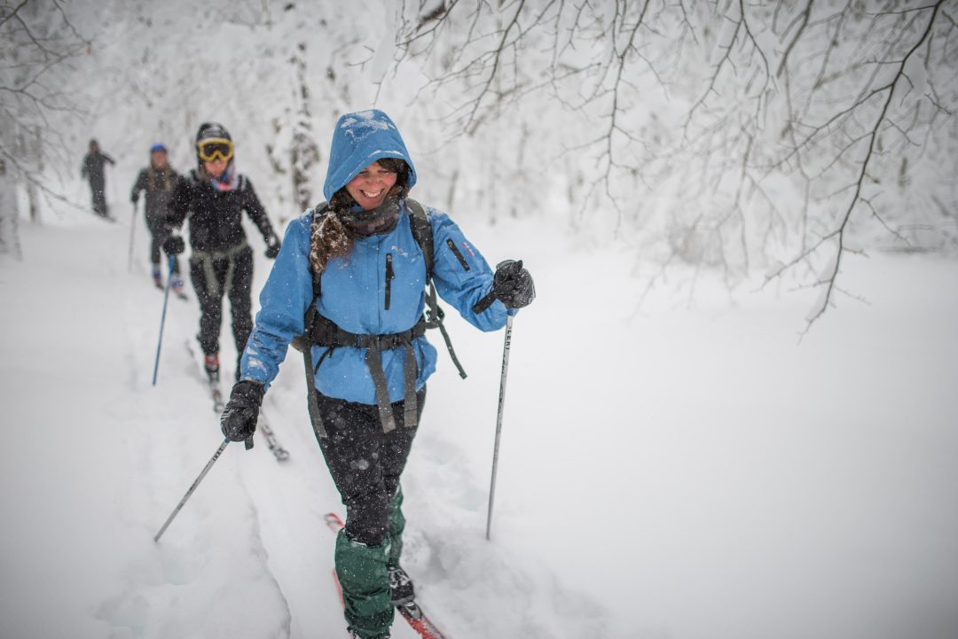 Backcountry skiing in WV