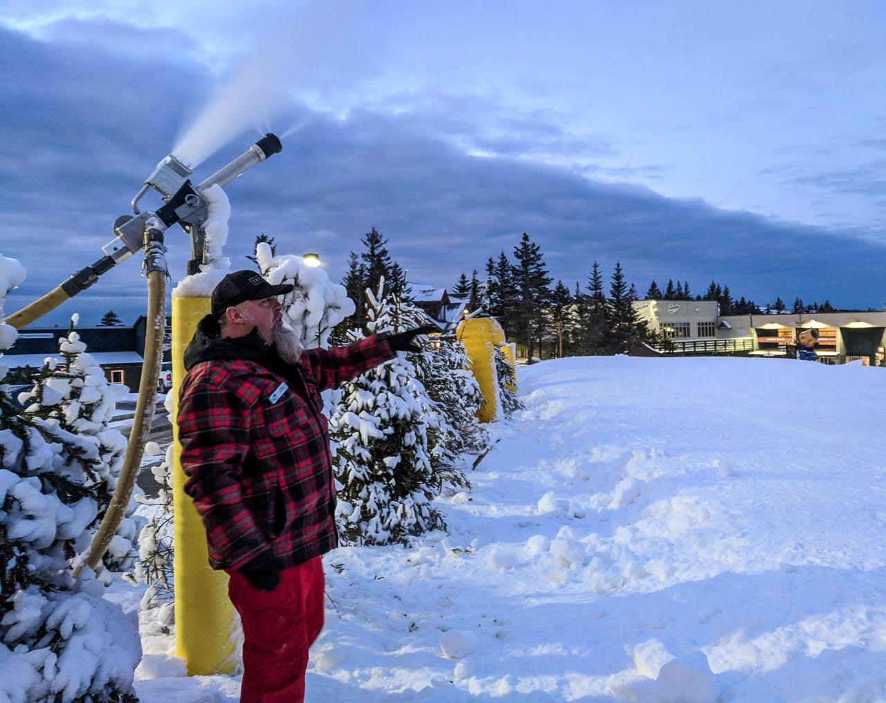 Snowshoe Snow Making