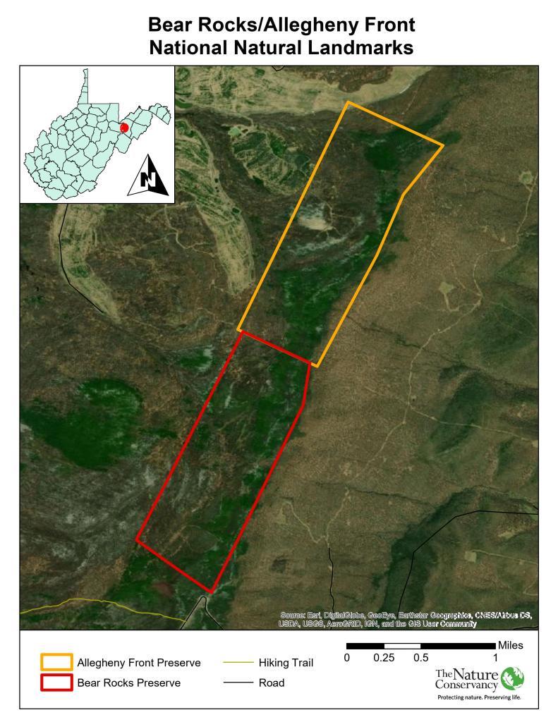 Bear Rocks NNL Map