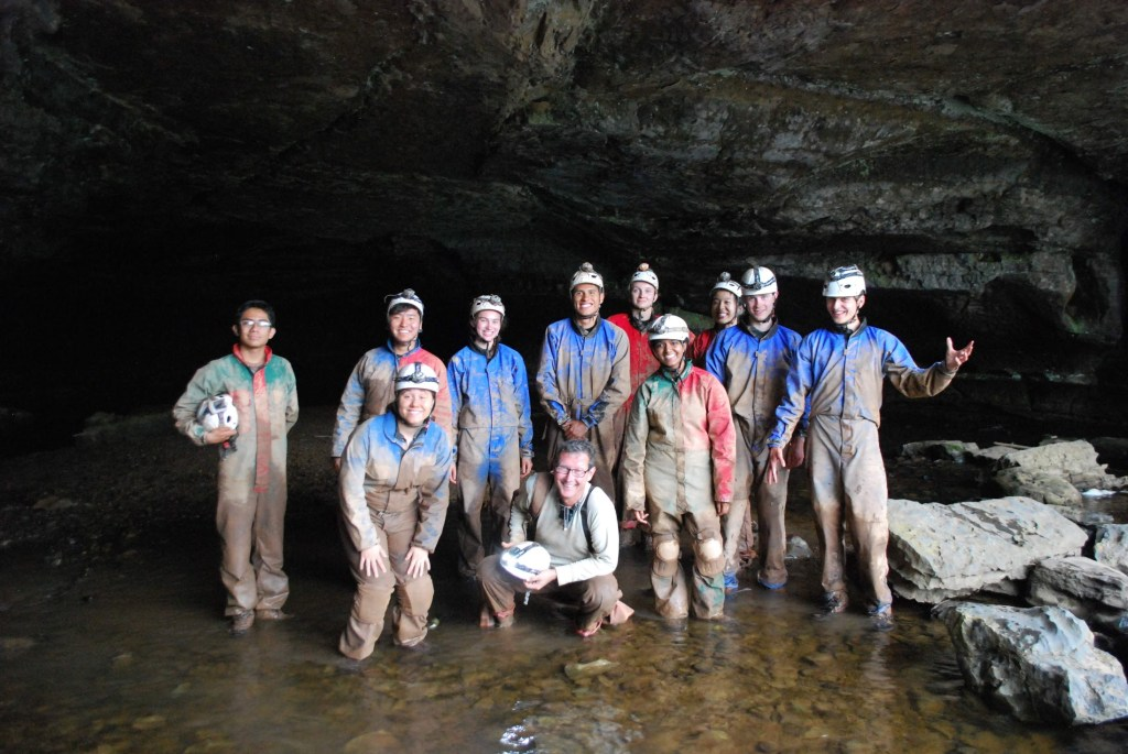 Caving trip for outdoor students