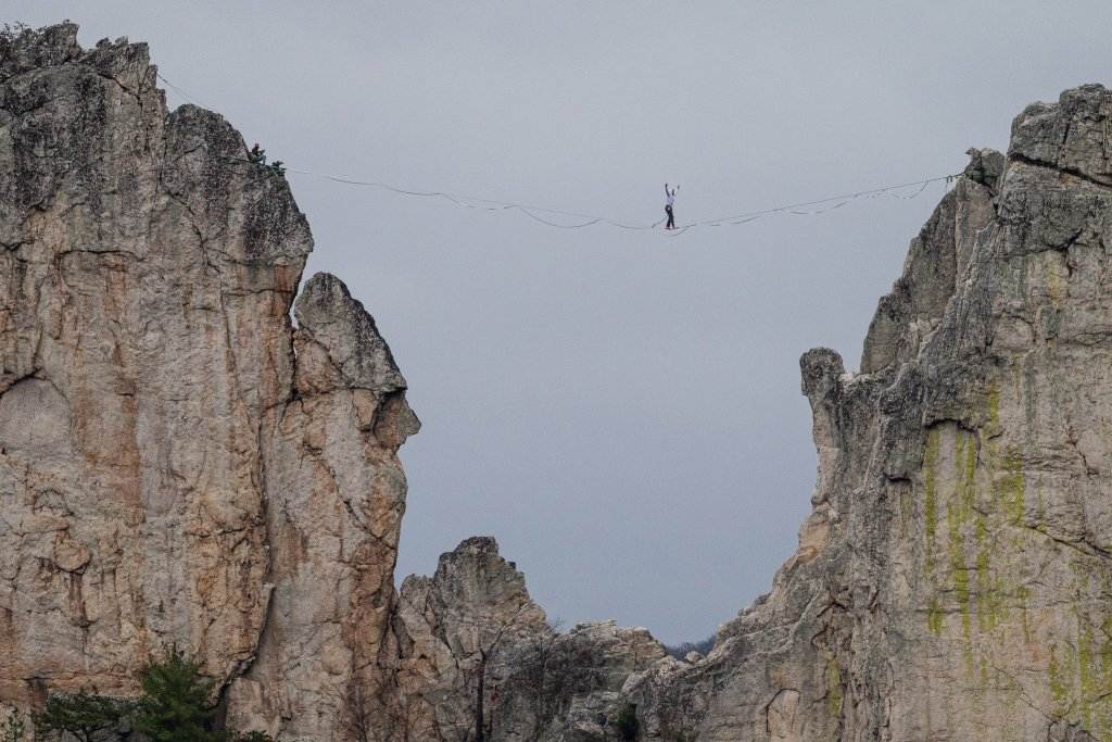 Seneca Rocks Highline: Suspended in Space