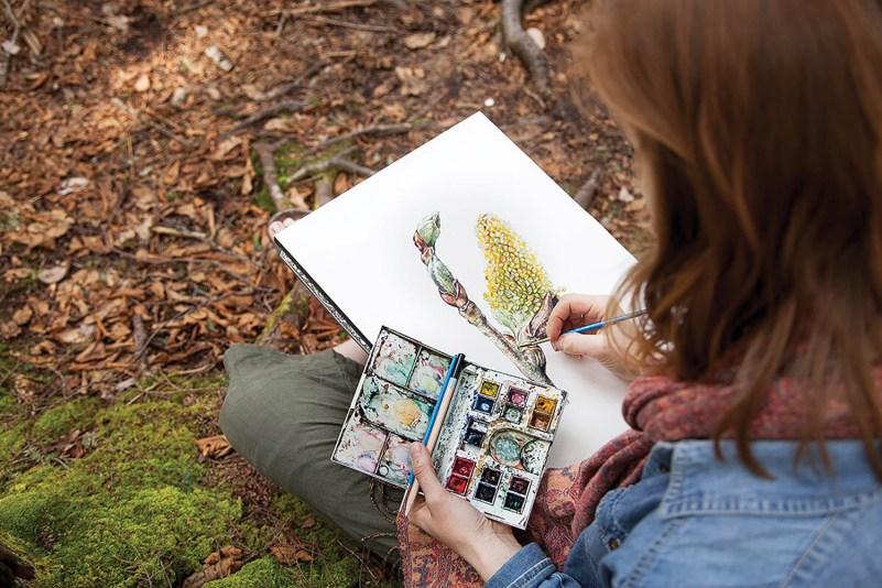 WV Art - Haizlett sketching