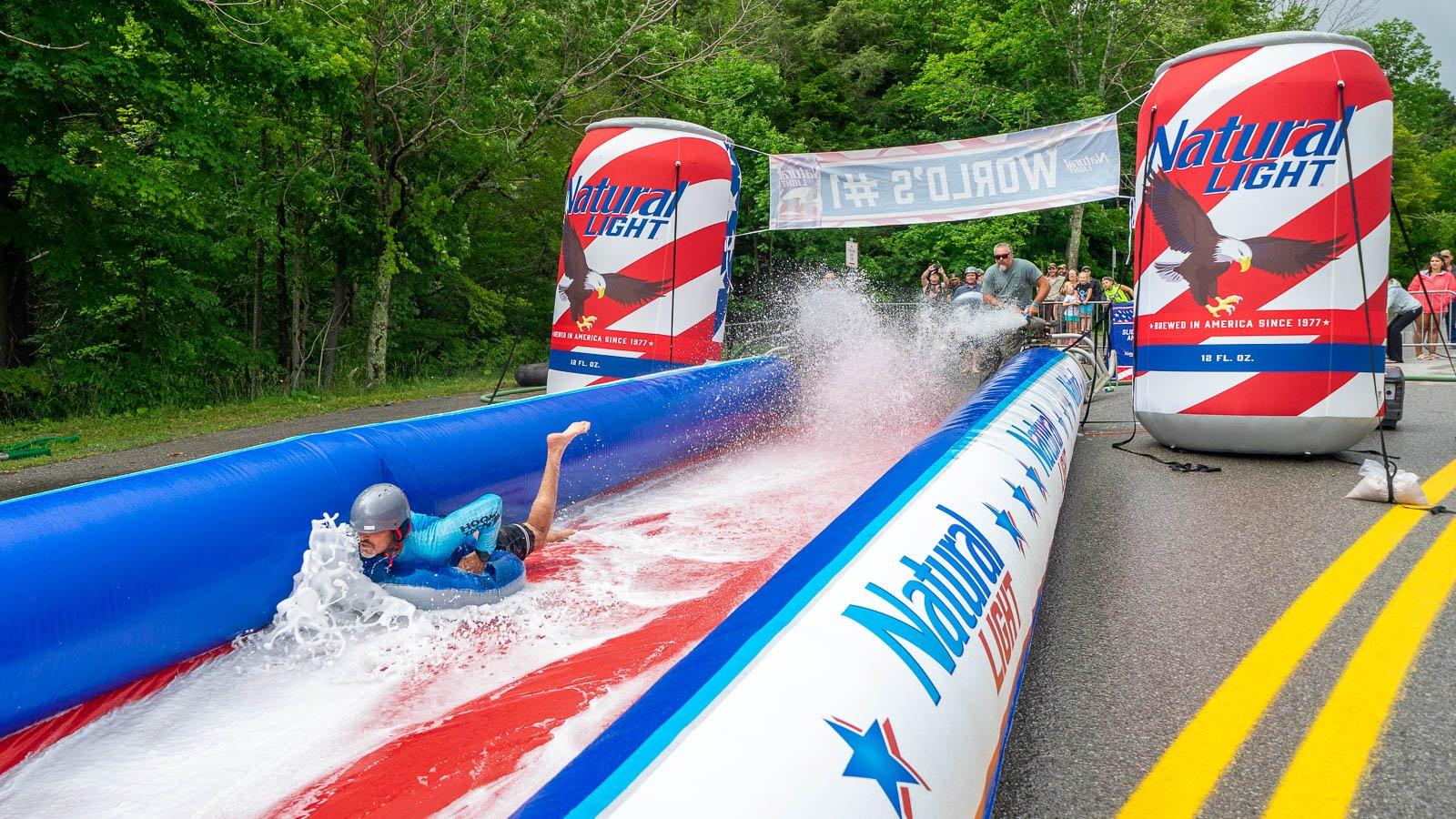 Slip and Slide World Record: Slip and Slide
