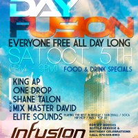 Day Fusion at Infusion Bistro, Saturday, Oct. 5th (4-9pm)