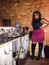 image: DJ Empress Rah at The Sound Table for Highlanda.net and The Honorary Citizen's RUB-A-DUB session