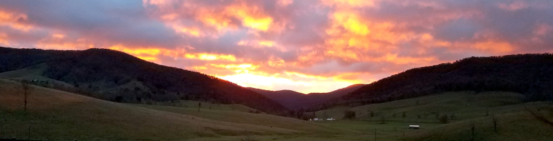 Highland County, Virginia, sunset, country, living, here, resident, mountains, mountain