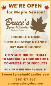Highland County, Virginia, Maple Festival, maple, sugar, camp tour, syrup, candy, sugar, Bruce Folks, Bruce's Syrup and Candies