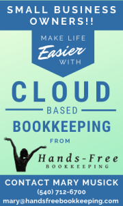 Hands Free Bookkeeping, cloud based bookkeeping, bookkeeping for small business, small business, small business owner, tools, assistance, Highland County, Virginia