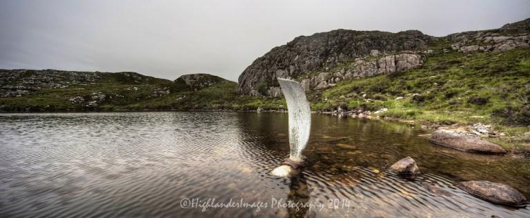 Stitched Panorama  Fairy Lochs Walk, near Shieldaig
