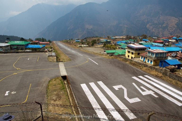 The runway at Lukla Airport, Nepal