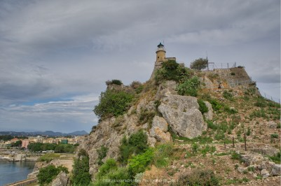 Lighthouse at Old Fortress of Corfu, Kerkira, Corfu, Greece