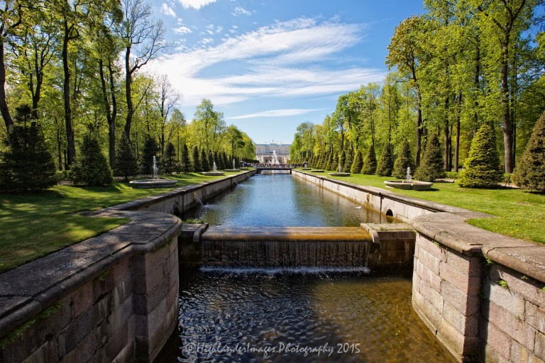 Royal Palace, Peterhof, St. Petersburg, Russia.