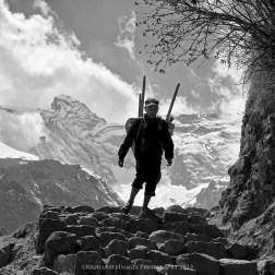 The last few steps up to Namche Bazaar.