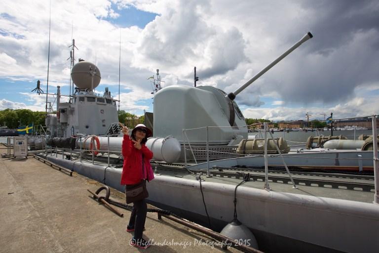 Naval ship at Vasa Museum, Stockholm, Sweden.