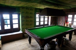 Tea shop on the outskirts of Namche Bazaar even had a pool table.
