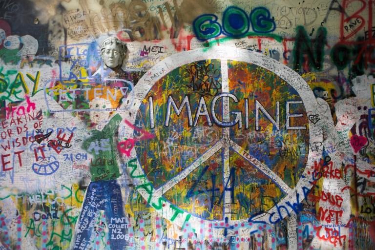 Lennon Wall, Prague, Czech Republic