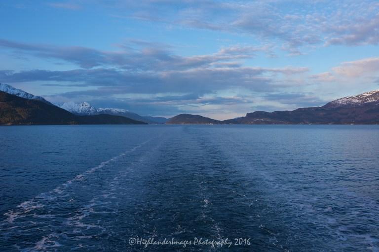 Sailing to Eidfjord, Norway on Marco Polo