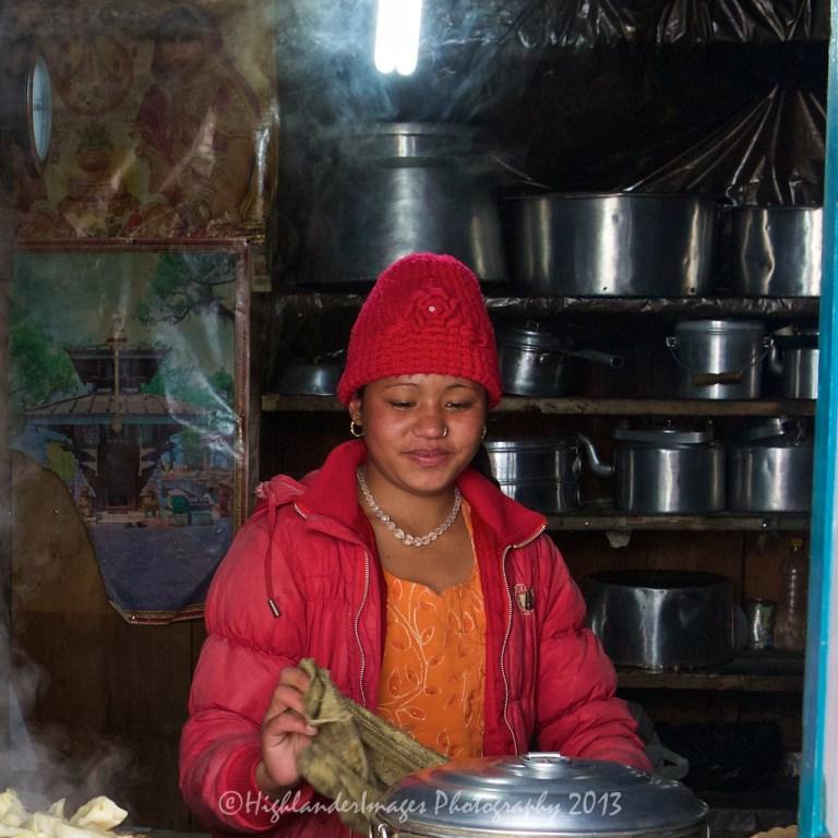Steaming momo, Lukla, Nepal