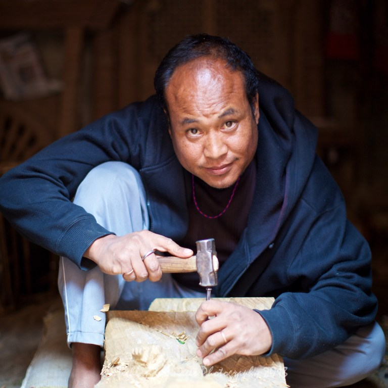 Local craftsman in Bungamati.