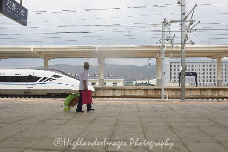 Train from Xi'an to Xining, China