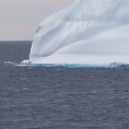 Iceberg in South Atlantic between Falkland Islands and Uruguay