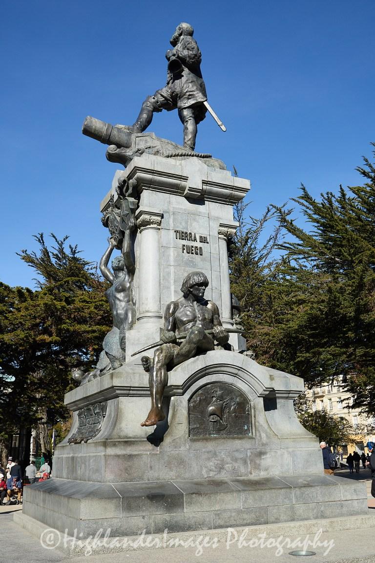 Hernando de Magellanes Monument, Plaza de Armas, Punta Arenas, Chile
