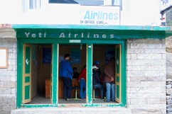 Yeti Airlines office in Lukla.